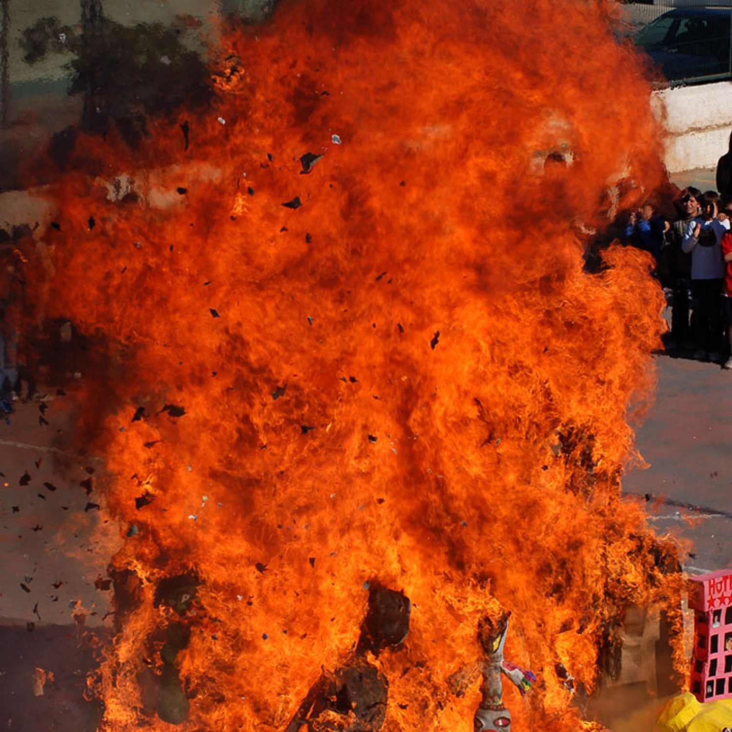The face of fire, Valencia Spain